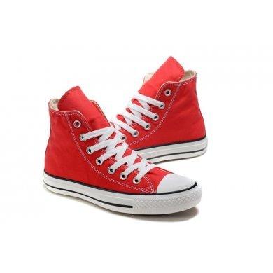 Кеды Converse All Star красные высокие