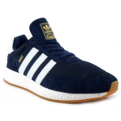 Кроссовки синие Adidas INIKI Runner
