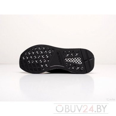 Кроссовки черные Adidas Deerupt Runner Black White