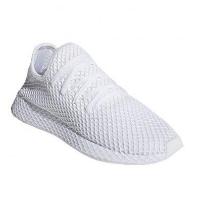 Кроссовки белые Adidas Deerupt Runner