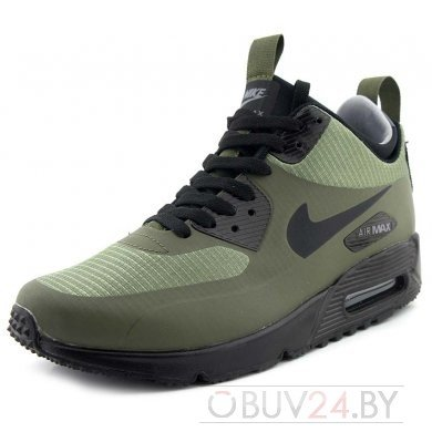 Кроссовки высокие Найк Аир Макс 90 (Зелёные)