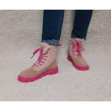Ботинки женские Dr Martens розовые