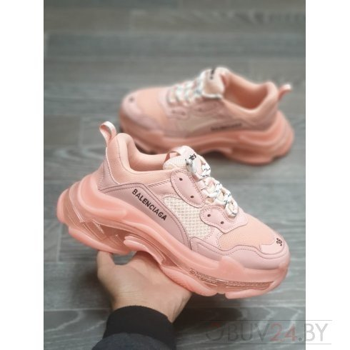 Баленсиага кроссовки розовые