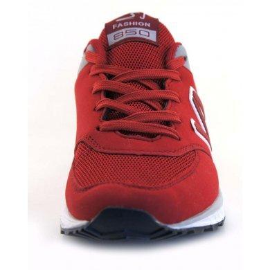 Красно белые кроссовки SAIJUN