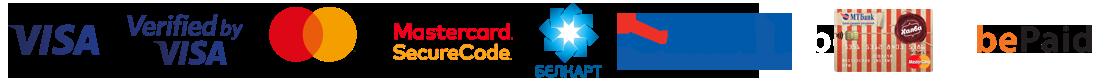 Логотипы платежный систем в интернет-магазине obuv24.by